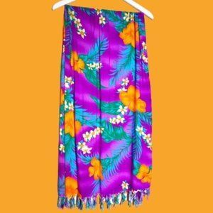 Hibiscus Collection Bright Tropical Print Sarong